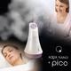 プラソニエ アクアナノ+ピコ(Hエッセンス10袋&フェイシャルマスク10枚付) ミスト美顔器
