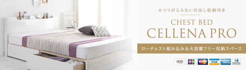 大量収納ベッド。埃と湿気に強いチェストベッドが安い!